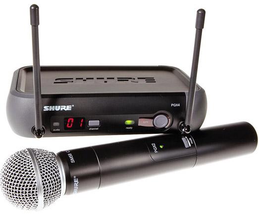 Shure wireless - PGX24/sm58